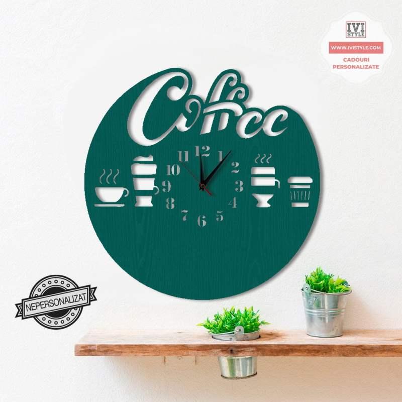 Ceas de Perete Coffee 02 Personalizat