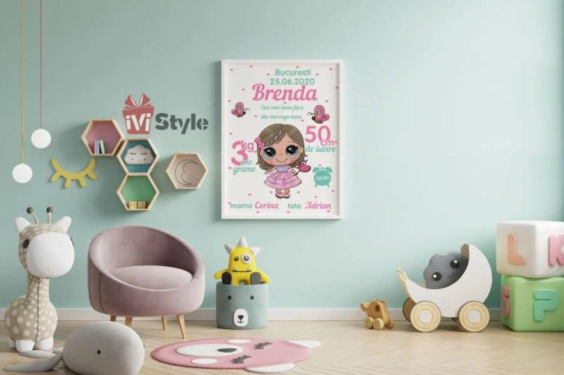 tablou-personalizat-pentru-copii-Papusica-Brenda