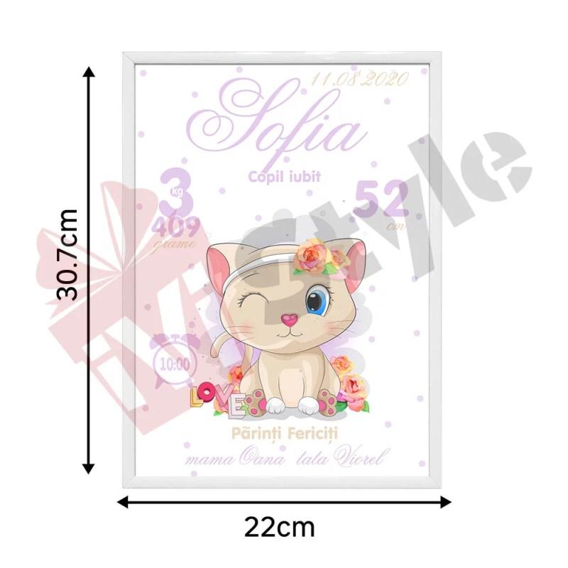 Tablou Personalizat Pentru Copii Pisicuta Sofia