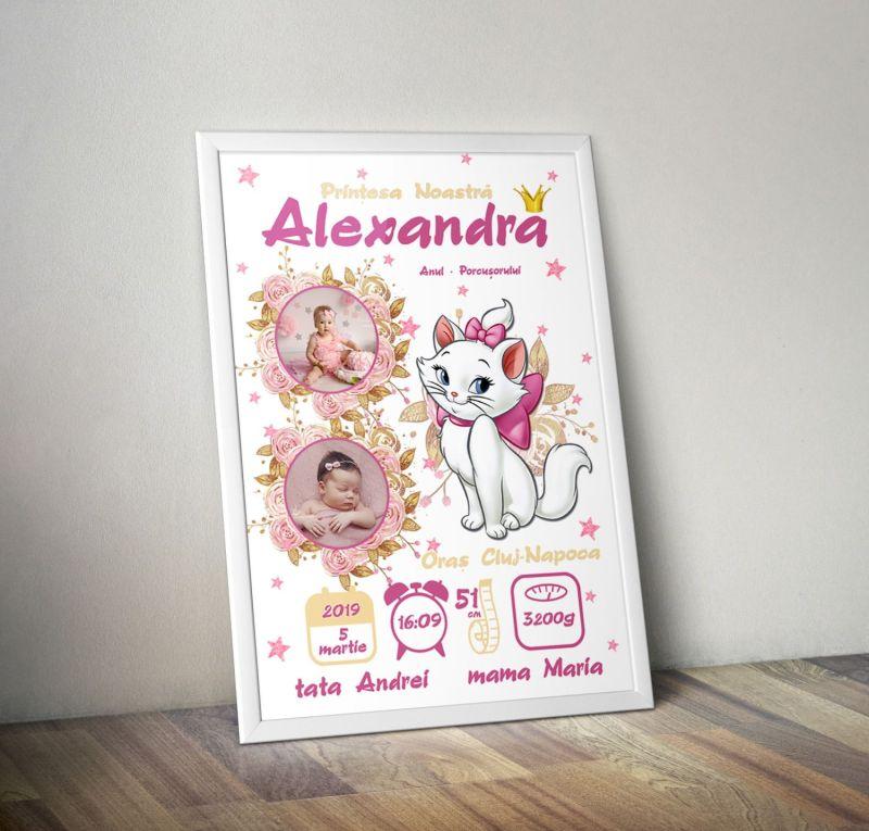 Tablou Personalizat A4 Marie Pentru Fetite v1