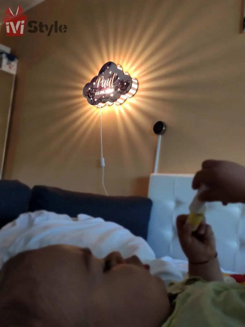 lampa norisor personalizata pe perete