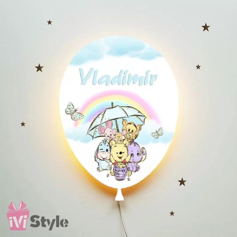 Lampa Personalizata LED Balon Winnie The Pooh Vladimir