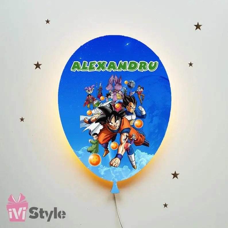 Lampa Personalizata LED Balon Dragon Ball 01