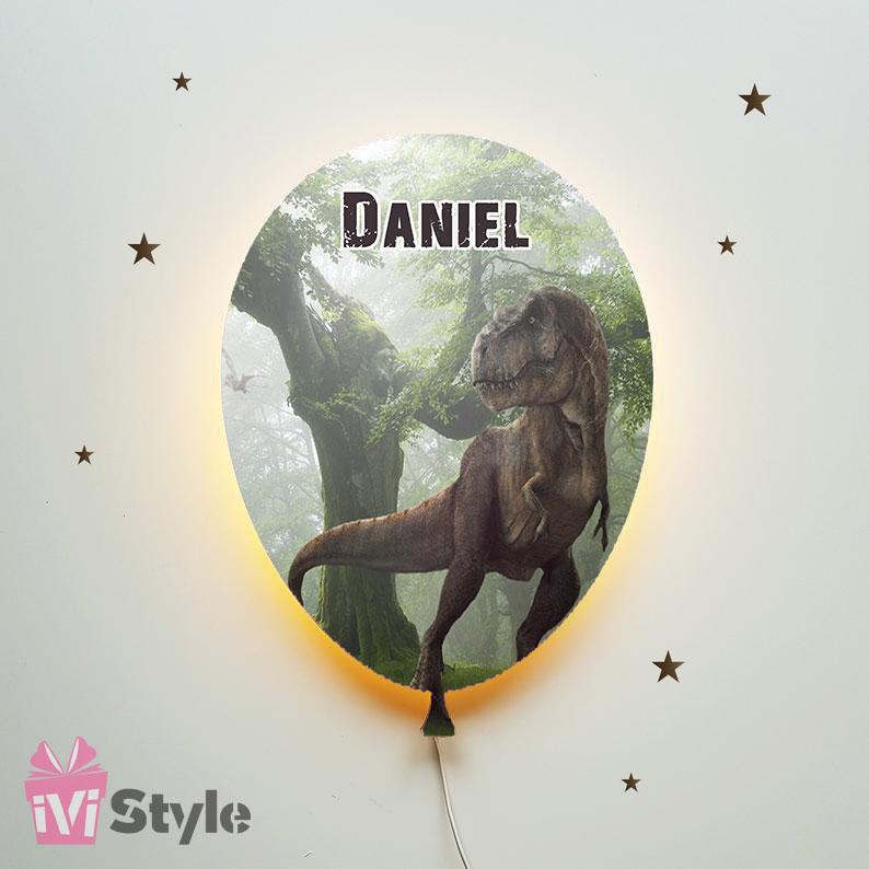 Lampa Personalizata LED Balon Dinozaur T-REX