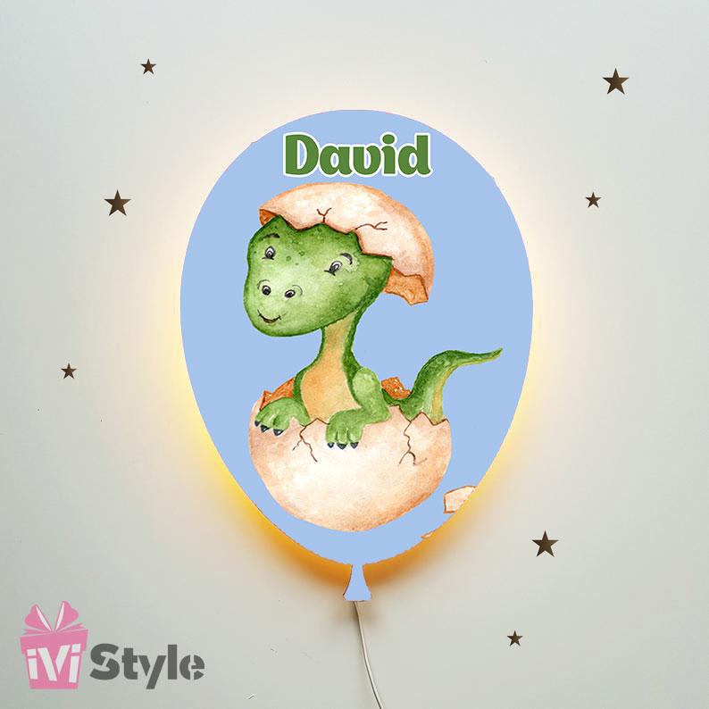 Lampa Personalizata LED Balon Dinozaur In Ou