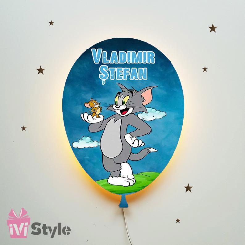 Lampa Personalizata LED Balon Tom si Jerry 01