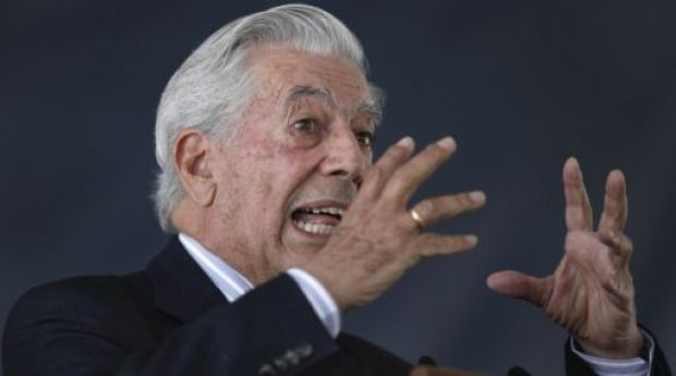 Peru's Nobel Literature Prize laureate Mario Vargas Llosa speaks during a conference at Mexico City's Autonomous University, Wednesday, March 2, 2011. Vargas Llosa is in Mexico to receive the 'Aguila Azteca Order' recognition from Mexico's President Felipe Calderon, among other activities. (AP Photo/Miguel Tovar)