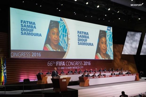 Photo during the opening ceremony of the 66th FIFA Congress at National Auditorium in Mexico City. --- Foto durante la ceremonia de Inauguracion del 66 Congreso de la FIFA en el Centro Banamex Ciudad de Mexico, en la foto: Gianni Infantino --- 13/05/2016/MEXSPORT/David Leah.