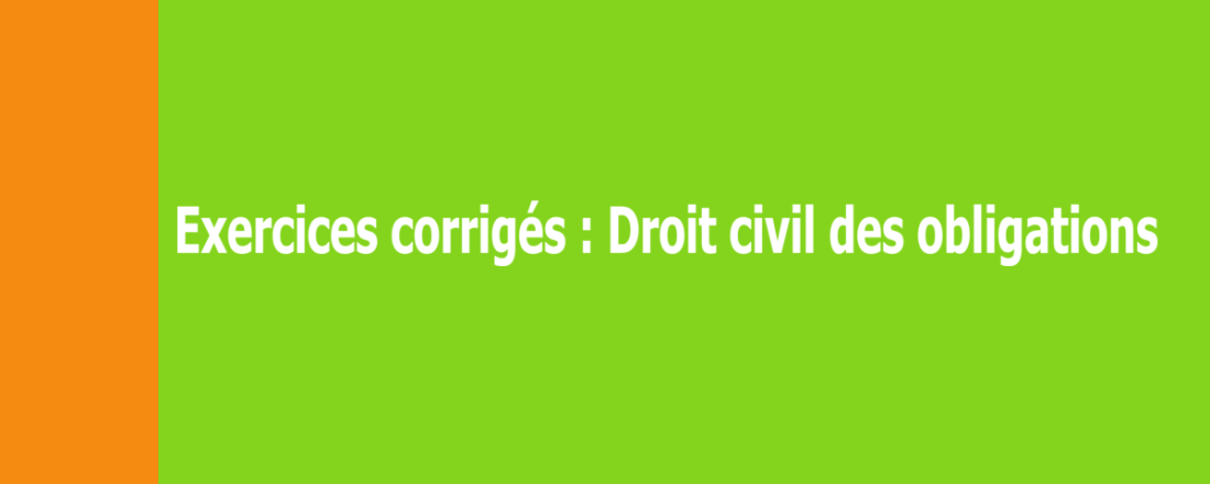 Exercices corrigés de droit civil - Licence 2