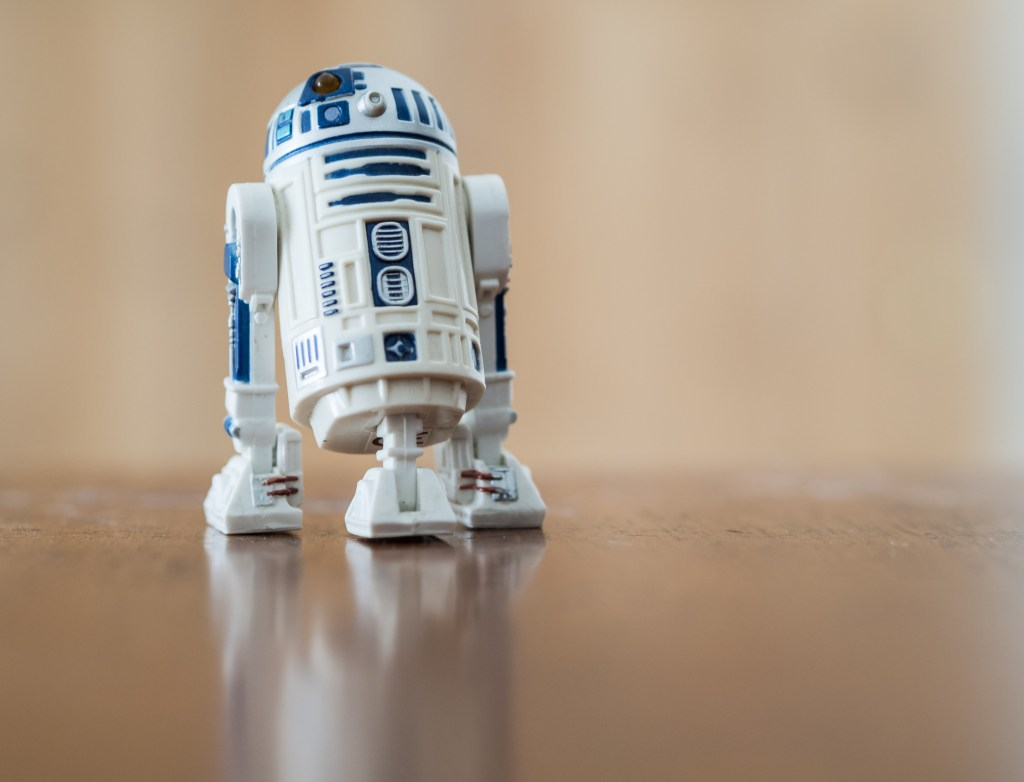 A model of R2D2 from Star Wards, the film that first inspired my photographic education