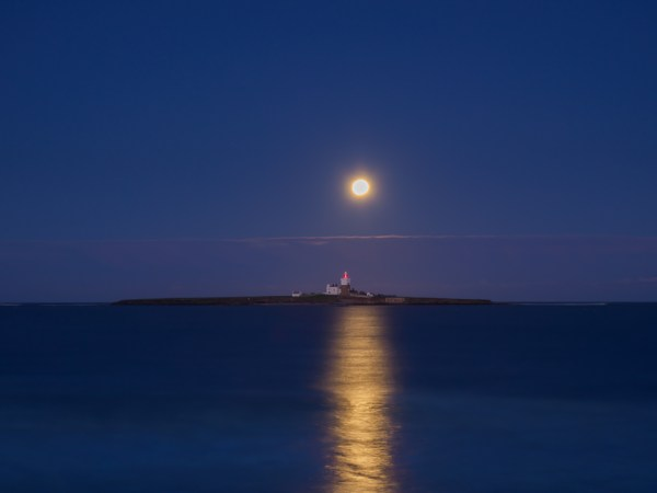 Moonrise over Coquet Island