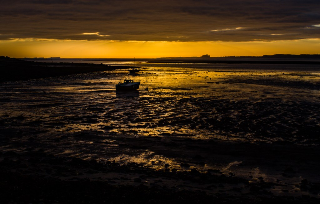 Planned shot at low tide, Lindisfarne.