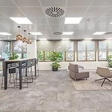 Oficinas Dell Computer, Madrid España, Diseño de oficinas, Ivory
