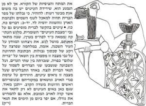"""העיט כאיום על מפירי הברית + קטע מ'מצבת העיטים' של אֶאַנַתוּם מלך לַגַש מהמאה ה- 24 לפנה""""ס"""