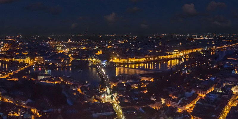 Aerial 360 Panorama Of Prague By Airpano 08