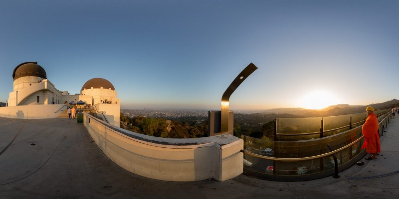 Griffith Park Observatory, Los Angeles, California. Panorama by Jim Newberry.