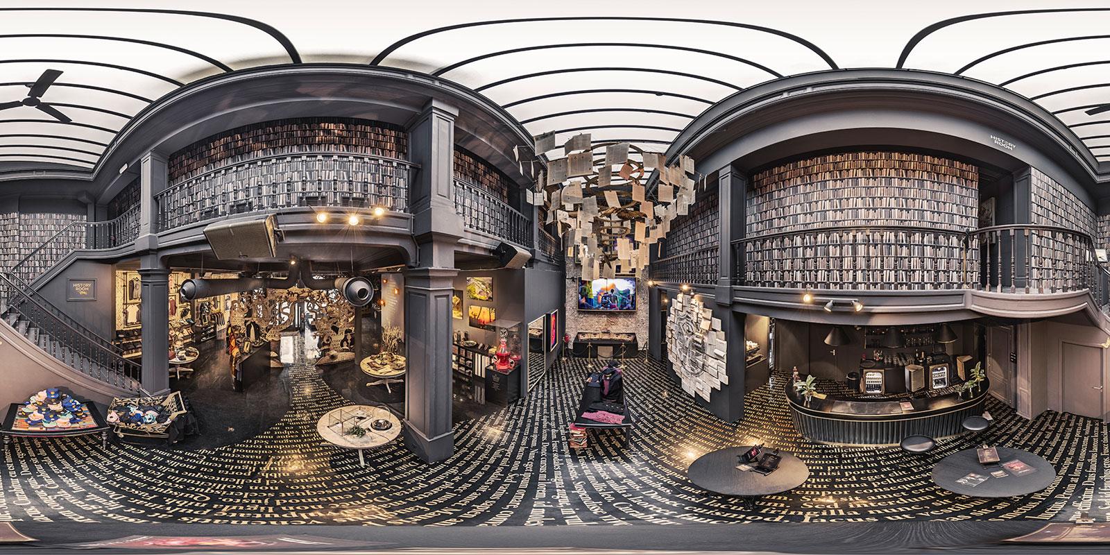 Tomorrowland Boutique interior equirectangular