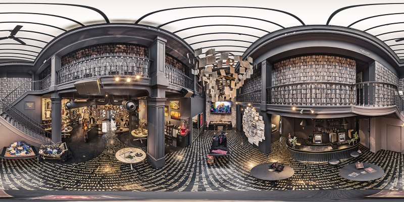 Tomorrowland Boutique interior equirectangular