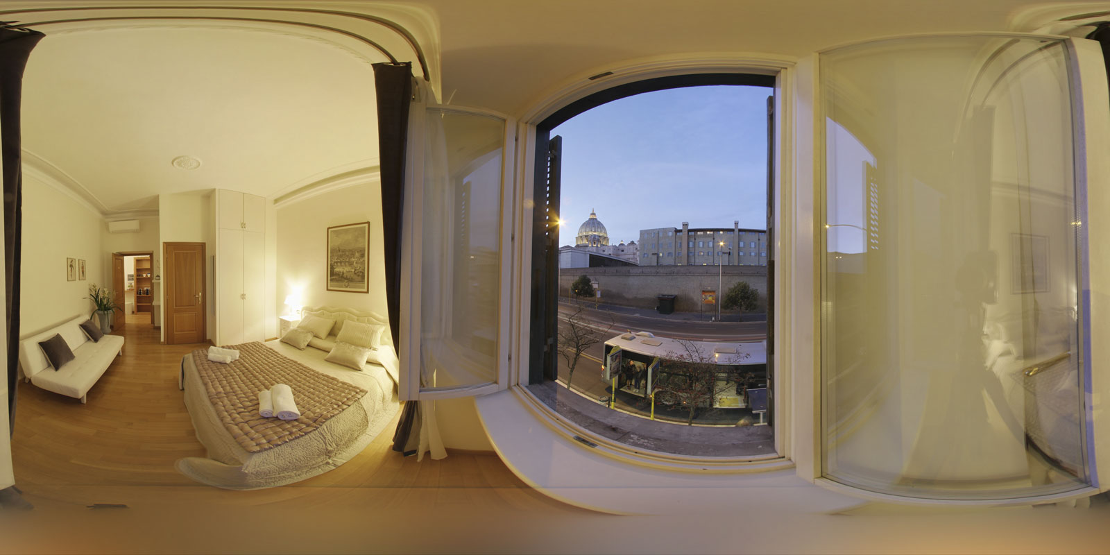 Interiors, Bed & Breakfast, Hotels, spherical photography