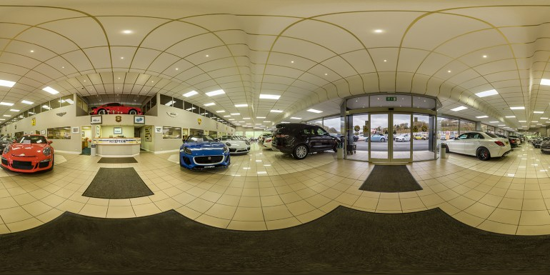 Finished Showroom Panorama Small