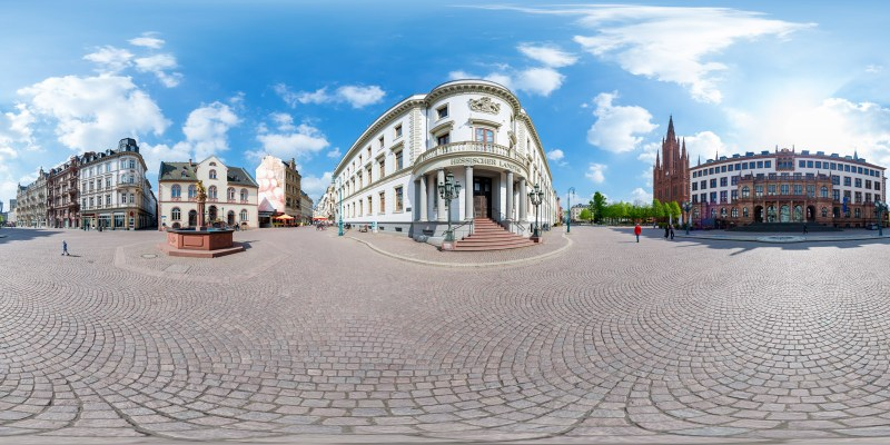 Hessischer Landtag - Historischer Eingang - 360°x 180° Panorama