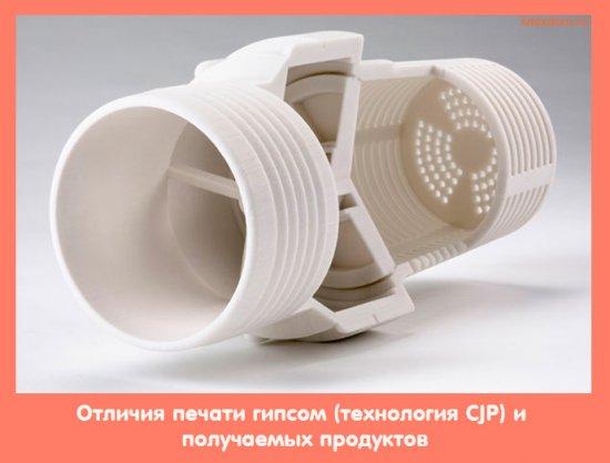 Отличия печати гипсом (технология CJP) и получаемых продуктов