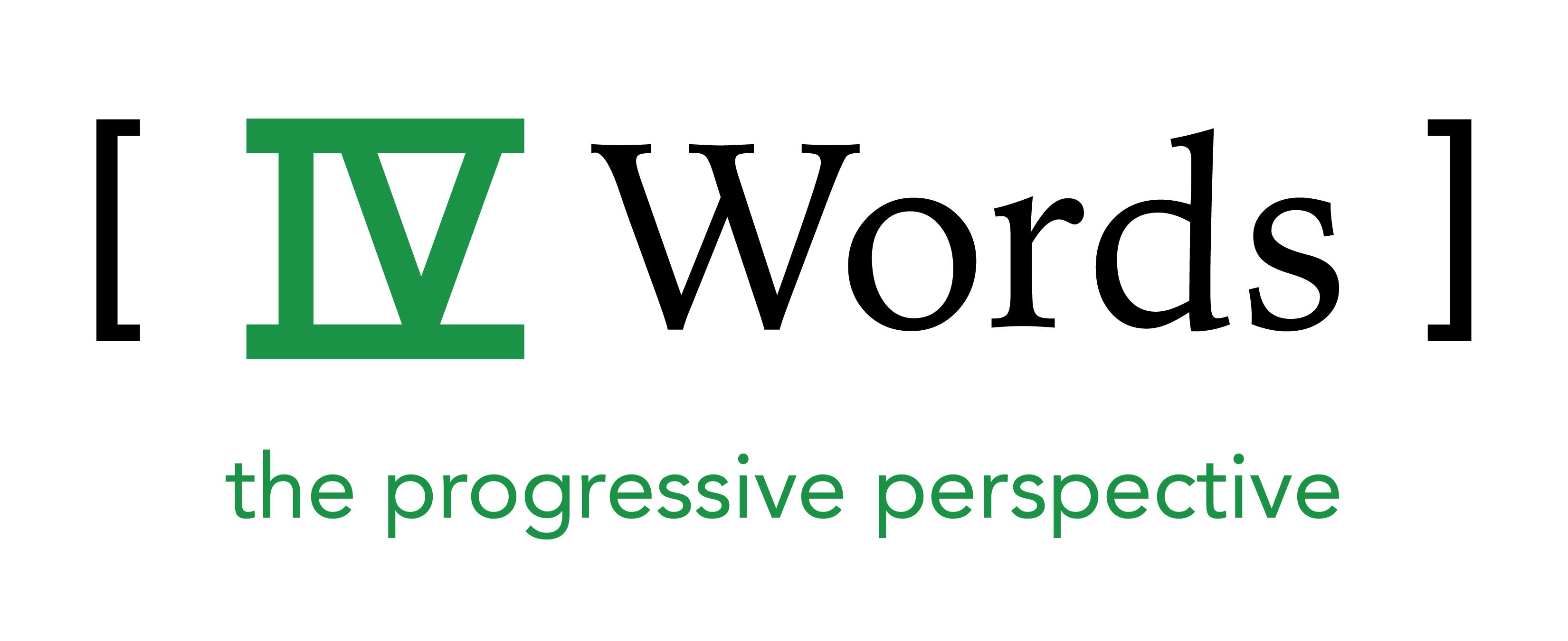IV Words logo with green tagline
