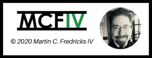 Black outlined graphic indicating copyright 2020 Martin C. Fredricks IV