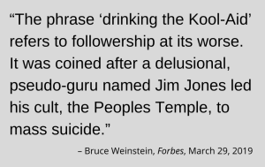 """Graphic of quote about """"Kool-Aid"""" to accompany impeachment post"""