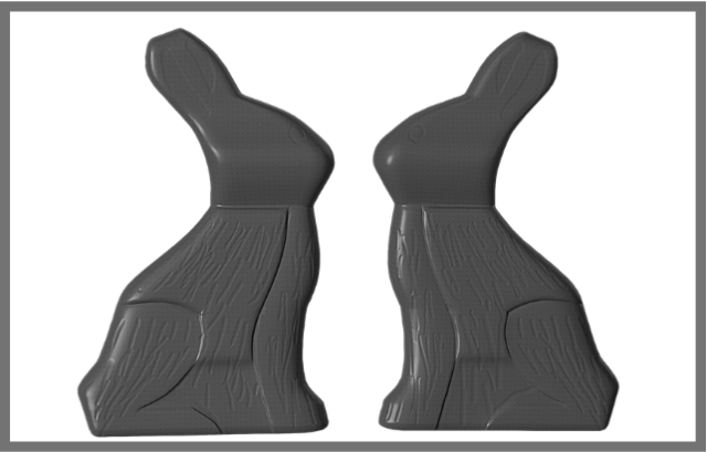 Photo of chocolate Easter bunnies for Medora Easter story
