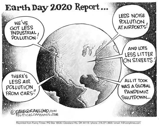 Earth Day - Climate Crisis cartoon by Dave Granlund