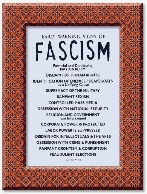 List of early warning signs of fascism