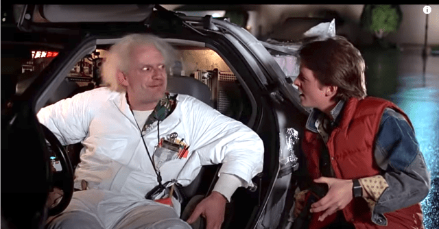 Delorean Doc Brown Marty McFly