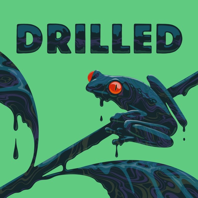 Logo for Drilled, a climate crisis podcast