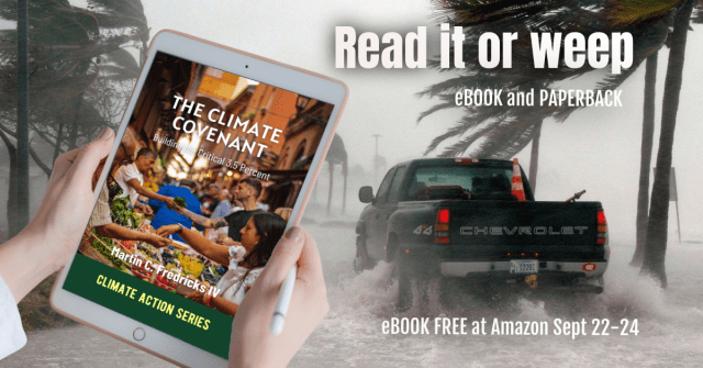 """""""The Climate Covenant"""" book release promo graphic"""
