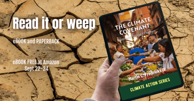 """Promo graphic for """"The Climate Covenant"""""""