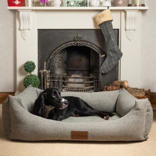 Large Size Fabric Lounger Bed In Pewter