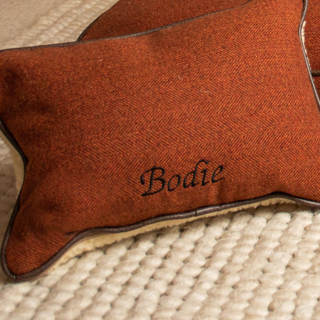 Personalised Pillow in Cinnamon