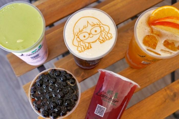 那慕軍福店 |台中北屯飲料,主打水果茶和4種口味的奶蓋,還可印上專屬照片或愛語!