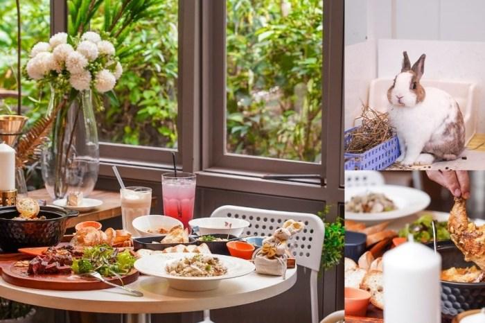 綠萼159創意料理  台中北屯兔子寵物餐廳,燈光美氣氛佳的約會餐廳,還能跟萌兔玩耍!