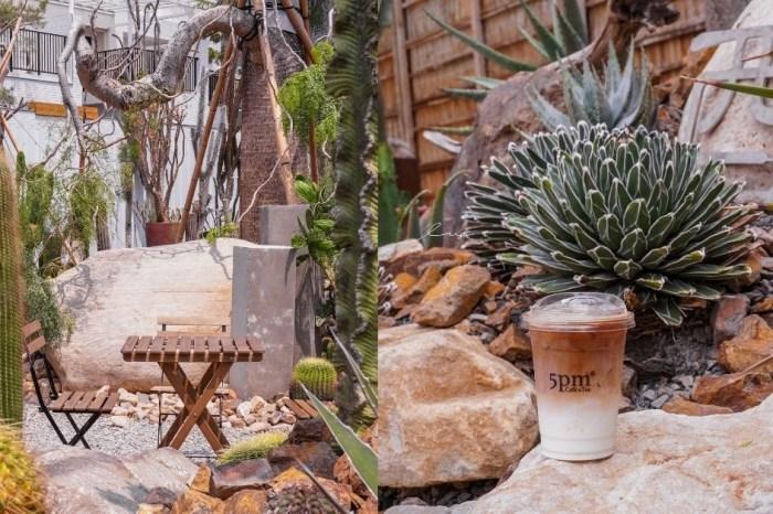 酉Succulent&Artwork 台中南屯仙人掌秘境,不限時戶外咖啡廳,沙漠造景+千層蛋糕超好拍!