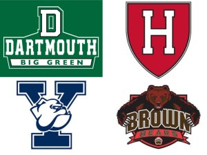 Spring cleaning came early in New England as Brown, Dartmouth, Harvard, and Yale got out the brooms and swept away the rest of the league.
