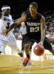 Wesley Saunders notched 27 points in Harvard's victory over UMass Saturday. (ivyleaguesports.com)
