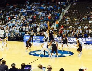 Harvard took North Carolina to the wire last week in Jacksonville, bowing 67-65 to the Tar Heels in the Crimson's sixth NCAA tournament game since 2012. (Rob Crawford)