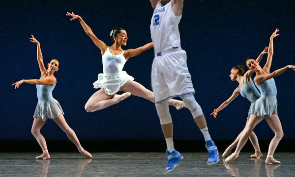 Conor Voss, pictured here in his first appearance with the New York Ballet.