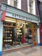Serving nautical visitors to Shaftesbury Avenue for probably around 120 years, Arthur Beale is a traditional chandlers selling rope, fittings, flags and other bits and bobs for boats.