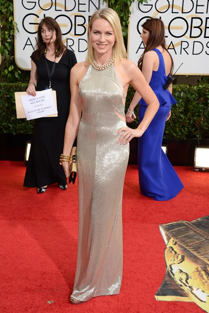 Naomi-Watts_Tom Ford metallic gown.