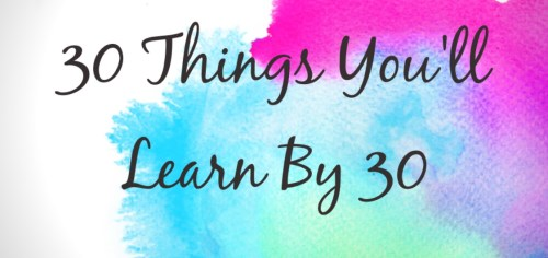30 things to learn by 30