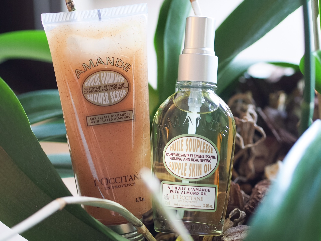 L'Occitane Almond Body Scrub and Supple Skin Oil