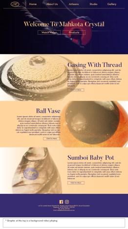 Mahkota Crystal Product Webpage